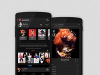 Musicinfo app concept