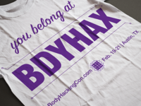 BDYHAX - Tshirt design entry