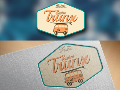 Swim Trunx - Logo Entry illustrator vector design branding typography logotype logo