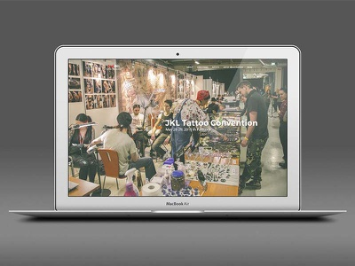 2nd JKL Tattoo convention typography user experience ux visual web design website