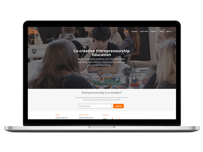 Web Design for an educational program wordpress website education user experience ui ux web design