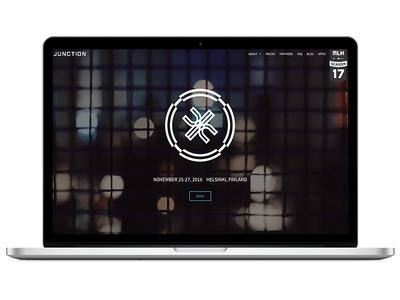 Junction Hackathon website hackathon website web design user experience ui ux