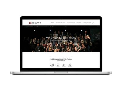 Website for the 3rd JKL Tattoo convention (2017) ux ui web design event tattoo website