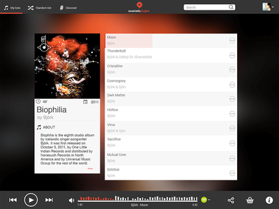 Music player concept music user interface user experience ux ui concept