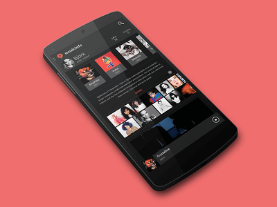 Musicinfo android concept music dark android user interface user experience ux ui concept