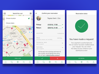 UX design for p2p car renting