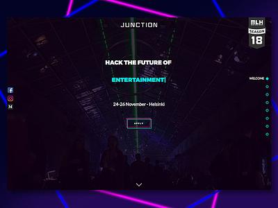 Junction 2017 web platform design ux ui user interface user experience hackathon flexbox react mobile desktop web design platform