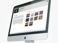 Music Info website prototyping