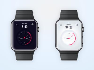 Watch concept wake ui explore time clean skin alarm clock watch
