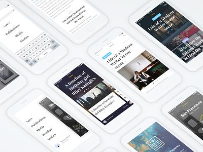 News App   Concept ux light search blog ui clean app read news