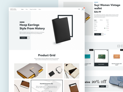 Michal Store - Ecommerce project fashion clothing website web ui minimalism clean store ecommerce interface