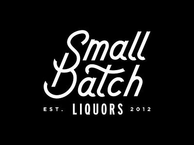 Small Batch Liquors Logotype branding typography logo refresh logo craft liquor craft liquor liquor store liquor lettering logotype