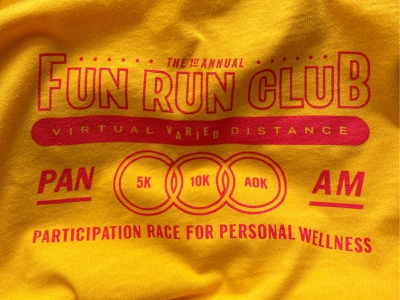 Fun Run Club t-shirt type typography typ 10k 5k race running