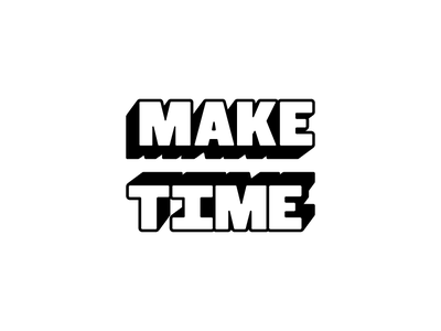 Make Time experimental typography perpective