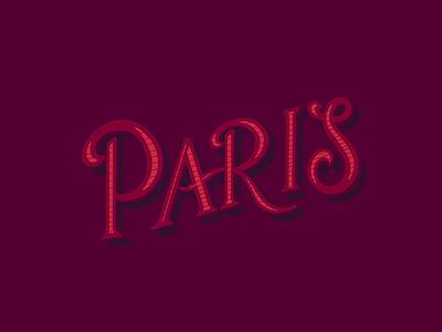 Paris lettering grid builder procreate ipad hand drawn custom type paris