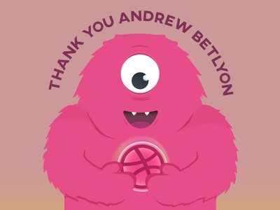 Dribbble Monster Thank You