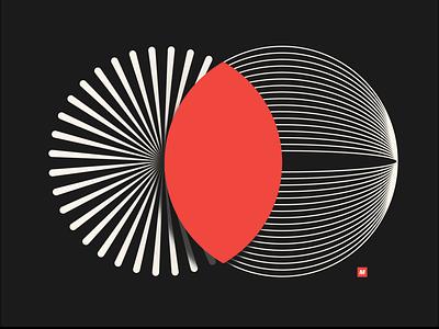 Matter Made #1 vector design identity illustration icon mark logo pie chart chart idenity minimal branding