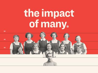 Matter Made #2 reveal minimal impact people photo red bold identity typography key visual retro animation branding