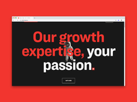Matter Made Website chart animation scroll red bold typogaphy astronaut landing page ui ux web