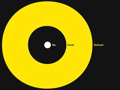 NoGood Brand #1 illustration modern digital art direction key visual o yellow typography minimal branding