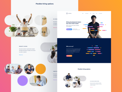 Talentoso Homepage it minimal flat clean purple gradient homepage website landing web ui ux
