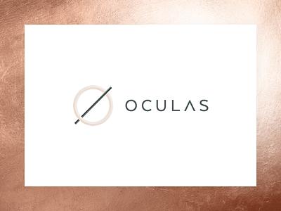 Oculas Logo rust copper typography minimal mark monogram o branding logo