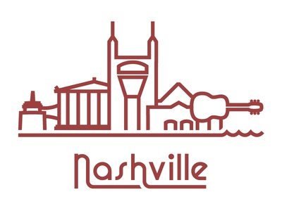 Nashville Skyline Rebound nashville tennessee music city nashville skyline skylines guitar minimal city