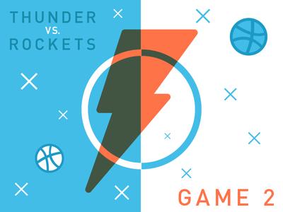 NBA Playoffs Thunder-VS-Rockets Game 2