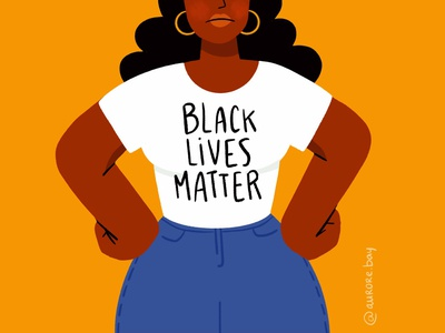 BLM ✊🏾 black lives matter blm woman girl character design drawing palette character ipad design procreate illustration