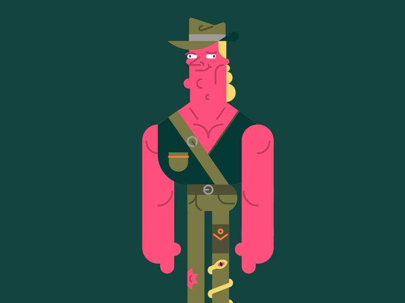 Explorer character design illustrator
