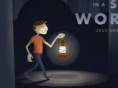 Lantern Dude Illustration