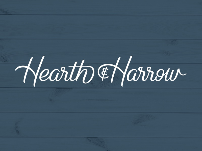 Hearth & Harrow Logo branding script lettering type cursive lettering logo font script