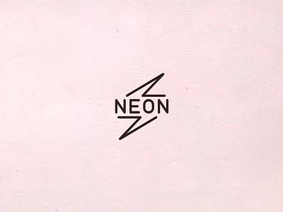 Logo   NeonTeam pink and black volt light lightning flash bolt irkutsk neon logo neonteam
