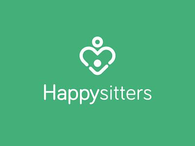 Babysitting branding baby sitter family love mother babysitting
