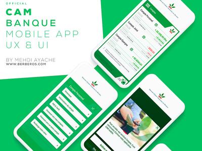CAM official bank application ux bank ui banking mobile application bank app crédit agricole du maroc