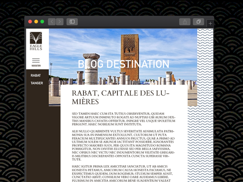 EAGLE HILLS DESTINATION'S BLOG tourism visit city city destination wordpress blog layout blog layout
