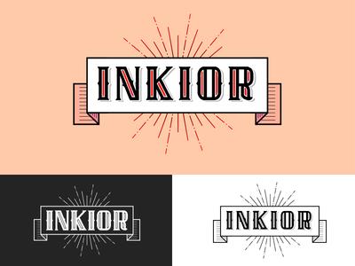 INKIOR LOGO shop logo tattoo logo ink service ink logo ink