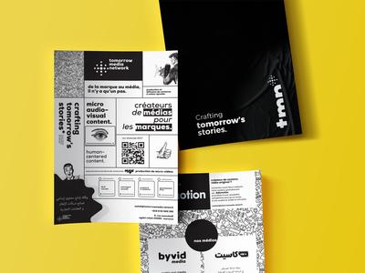Tomorrow Media Network print Black & White flyer