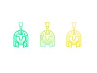 AI Roman Helmet logo symbol outline icon outline gradient logo design branding logo a day logodesign logo mark artificial intelligence ai helmet