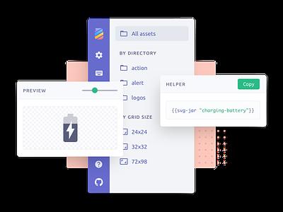 UI parts for a web app clean stack pane sidebar minimal web design ui design webapp app ui
