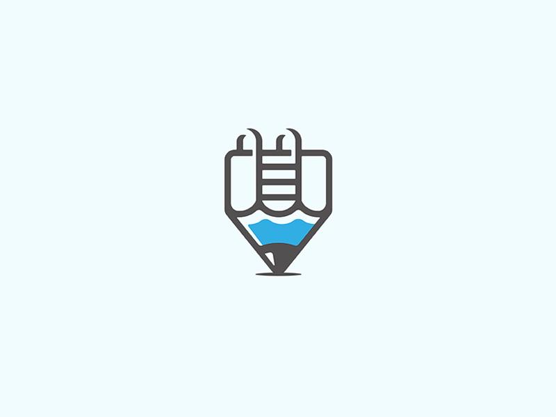 CreativePool pencil pool creative icon branding logodesign design logo