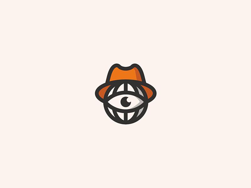 Webspy spy web illustration icon branding design logo