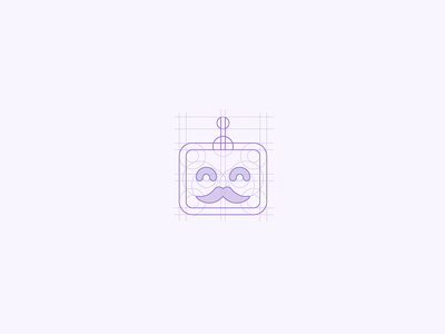 Bot Jenkins design concept grid logo icon