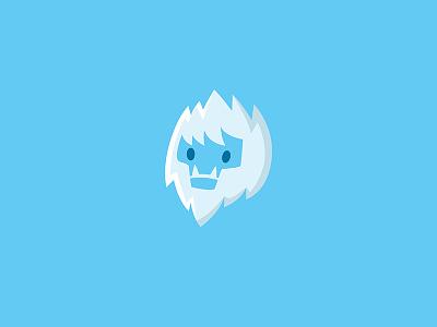Yeti snow vector design logo illustration yeti