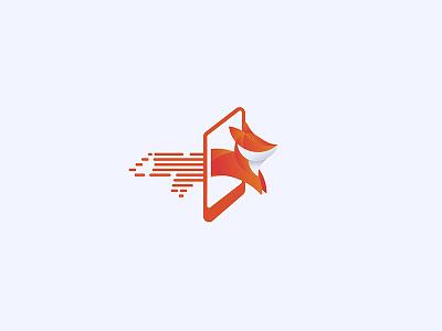 Digital Reality mobile web fox vr reality digital design logo illustration