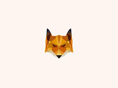 Foxtastic logo design design logo wild fox low poly art illustration
