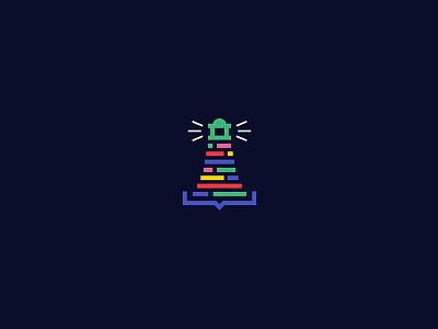 CodingBeacon web logo design logo icon guide design coding code beacon app