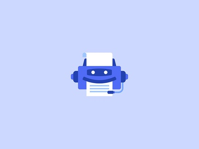 PrintAdvisor logo flat design paper support cs print illustration icon