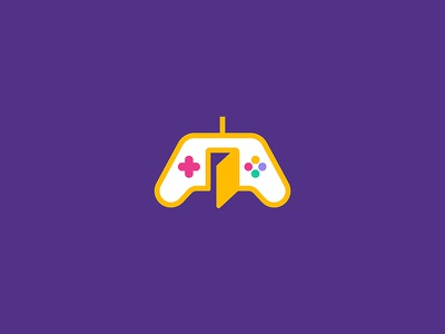 The Game Room room console game design flat illustration icon logo