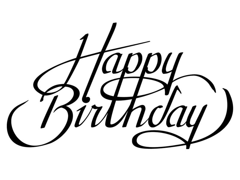Happy Birthday Schriftart ~ Happy birthday by rhianna reeve dribbble